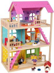 2020 новый дизайн Розовый дом кукла Scene играть деревянная игрушка