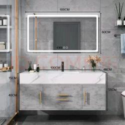 대리석 세면대 베이슨이 있는 현대식 멜라민 욕실 캐비닛