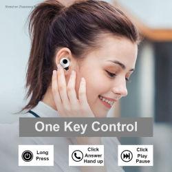 Taller de tecnología inalámbrica Bluetooth V5.0 auriculares auriculares intrauditivos Deportes 3D estéreo auriculares micrófono con caja de carga