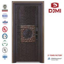Blindados baratos Precio de la puerta frontal de acero blindado de madera