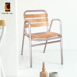يبستن منافس من الوزن الخفيف بالجملة فناء أثاث لازم ألومنيوم معدن [تك] قدّة خشبيّة كرسي تثبيت خشبيّة ([دك-06310])