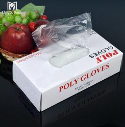 Fabrik verkauft transparente Plastikhandschuh PET-HDPE-LDPE-Wegwerfhandschuhe
