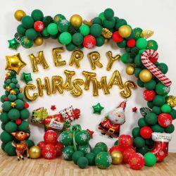 Parte de látex de suministro de aire de Helio inflables decoración globos globo ¡Feliz Navidad!