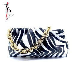 Новый стиль Модные золотые цепочки Zebra в дамской сумочке Wowen облачных вычислений