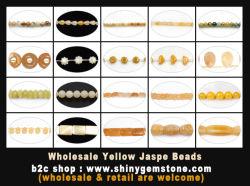 Gele Jasper kralen Jade Juwelen