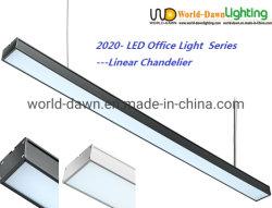 تصميم أنيق مكتب إضاءة داخلي LED، مطعم الإضاءة، مصابيح التعليق مصباح السقف بقوة 36 واط، مصباح مدلاة خطي LED
