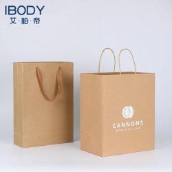 Best-Selling Customized Gift verwerkt Kraft Paper Shopping Tassen en Logo Afdrukken