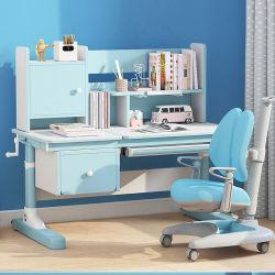 Ergonomischer Kinder Schreibtisch mit Doppelregalen Schublade