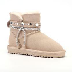 Schuh-Hefterzufuhr-lädt flacher kleine Mädchen-Schnee der Modedesigner-Kinder leichtes Baby-Antibeleg-Kind-Schuhe auf