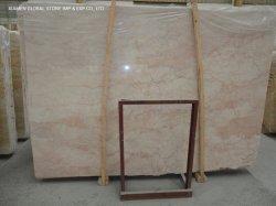 Pulido de buena calidad losas de piedra natural China Rojo/Rosa Rosa Crema mármol para piso interior decoración de azulejos