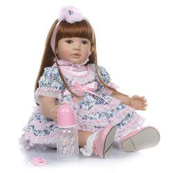 24polegadas Toddler renascer Doll Silicone macio de algodão Vinil Body Princess Girl realistas detalhes boneca bebê Pintura Dom Aniversário de Natal
