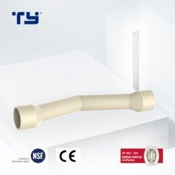 굴곡 중국 PVC-U Pn10 압력에 관 이음쇠는 물 상표를 위한 OEM 플라스틱 관을 통조림으로 만든다