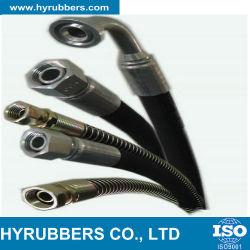 Flexible hydraulique sur le fil tressé en acier flexible en caoutchouc