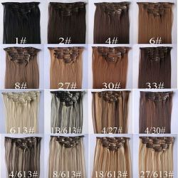 Stock Sale New Arrival Double Drawn Full Head 20'' Clip in Hair Extensions
