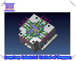 El diseño 3D (herramientas de dibujo) para el molde de plástico