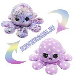Peluches reversível estilo quente Octopus Doll Gira Octopus Doll em ambos os lados