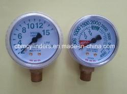 Jauge d'O2 du débitmètre d'oxygène et de jauges de pression