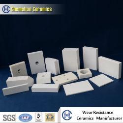En céramique résistant à l'usure de l'alumine utilisé comme revêtement d'usure des garnitures de l'industrie