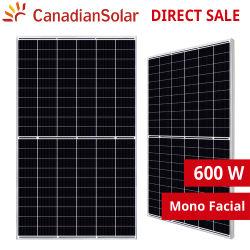 カナダ人用 580W 585W 590W 595W 600W 605W ソーラーパネルモジュール 210mm PERC ハーフセルモノ Hiku7 CS7l-MS モノ PERC 用 商用ソーラーシステム