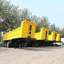 محاور 2/3/4/5 35 مترًا مكعبًا 40/60/80/100 طن من خلفية القلب الهيدروليكية End Rock Sinotruk Mining Dumper Dumper Dumper Trailer Semi Trailer لمدة سعر البيع