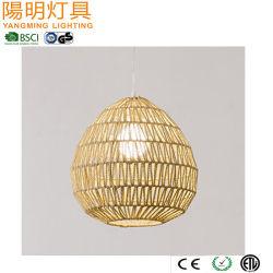 Природные веревки пульт управления освещением/ висящих лампа для магазина или бар