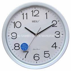 Redondo de plástico blanco Reloj de pared de la dirección de inicio