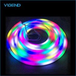 RGB LEIDENE van de Strook van de Kleur van het Neon van 9.5X12X22mm het Waterdichte Flexibele Magische Licht van de Strook