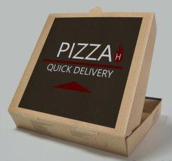 Kraft personalizada/ /cartão Kraft branco impressão a cores do transporte de Embalagens de Papelão Ondulado Caixa de pizza