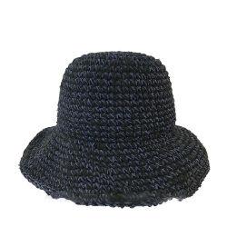 여성 휴가 여행을 위한 플로피폴딩 썬 종이 스트로 모자