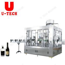 Автоматическая вино стеклянную бутылку для наполнения и Capping упаковочные машины