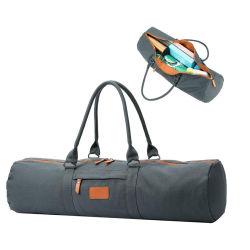 Lona resistente Deportes Viajes portador de la bolsa de Yoga multifunción con cremallera Bolsillo