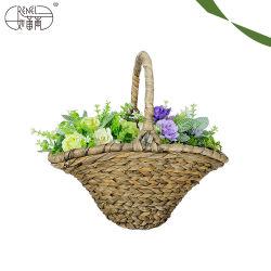 Cestino del fiore tessuto mano decorativa alla moda di Renel per la celebrazione di natale