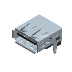 De witte Schakelaar van de Contactdoos van de Stop van de Hefboom van de Kleur USB met 4pin voor de Mobiele telefoon-Kabel van PC- Gegevens