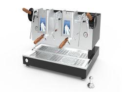 Professional Double tête d'un Cappuccino électrique automatique machine à café expresso
