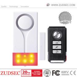Control remoto Wireless de la puerta de la ventana de la vibración y el sensor magnético de la alarma de luces y sonido