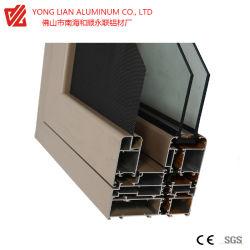 절연제 소음과 열 건축재료에 있는 Windows 그리고 문을%s 알루미늄 밀어남 단면도