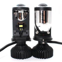 عدسة LED H4 High Low الزينون الثنائي المنخفض التلقائي بجهد 12 فولت وقدرة 40 واط وسعة 4000 لومن جهاز عرض صغير مقاوم للمياه