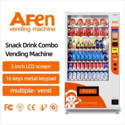 Afen自動びん詰めにされた水ビール飲料のコンボの冷たい飲み物の軽食の自動販売機