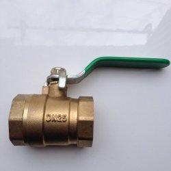 Roscado de latón de alta presión válvula de bola