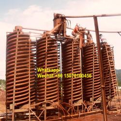 무거운 무기물 Coltan 크롬 지르콘 철 금홍석 주석 금 티탄광석 광석 분리를 위한 광업 중력 공정 장치 지그 집중 장치 나선 플랜트