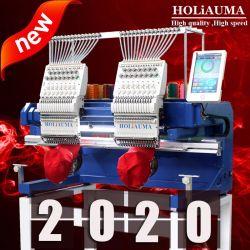よいHoliaumaビジネス2 400*500mm領域2ヘッド15カラーのヘッド平らな/Hat/ 3D/の革コンピュータの刺繍機械