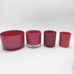 Venda a quente Vela Votiva titulares de vidro colorido aos titulares de Velas decoração doméstica