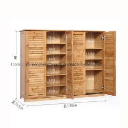 Multifunción de la sala de almacenamiento simple de madera armario de la zapata de bambú