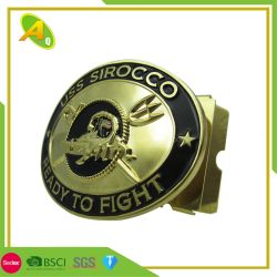 Facoryの価格の卸売の革ベルト(004)のためのカスタム3D方法ロゴのウェビングのシート亜鉛合金または真鍮か西部の人調節可能なメタルピンのベルトの留め金