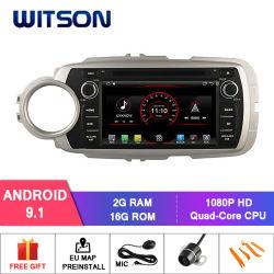 Processeurs quatre coeurs Witson Android 9.1 LECTEUR DVD pour voiture Toyota Yaris 2012 2G RAM 16 Go de mémoire ROM
