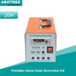 20W/30W/40W DC portátil em casa a energia solar/pilhas solares do Sistema de Alimentação
