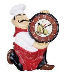 31cmの漫画デザイン大きいシェフシリーズプラスチック水晶柱時計
