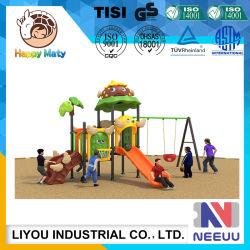 Parque Infantil do jardim de infância do parque de diversões de equipamento de Diversões Conjunto giro com escorrega para Chlidren/filhos