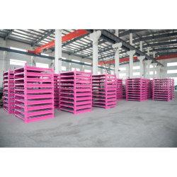 Fordable Caja de metal plástico resistente de mover la caja de almacenamiento de almacén Tote Eco Integra Caja de envío/Bin Facturación Caja con tapa