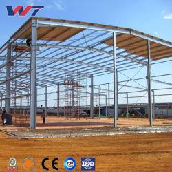 鉄骨フレームの構造の住宅建設の別荘のガレージの航空機の格納庫の工場倉庫の研修会の農場の牛舎の鶏の構築のDesingのプレハブの小さい計画
